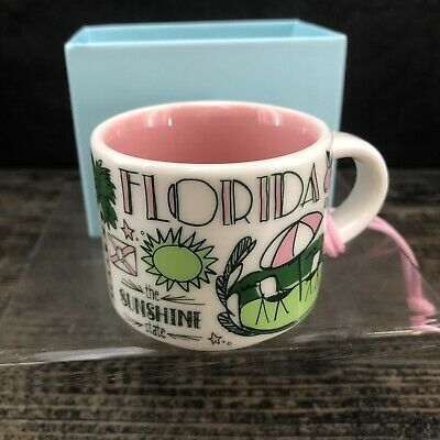 NEW 2018 Starbucks FLORIDA Been There Series Collection 2 Oz Espresso Cup Mug