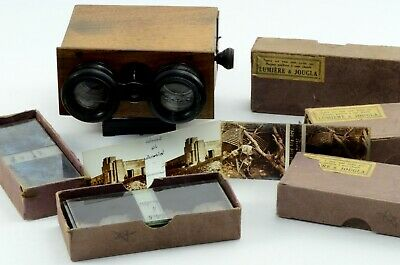 Rare Stereoview WW1 Graphic Stereoscope Glass Slides Trench War Front Line