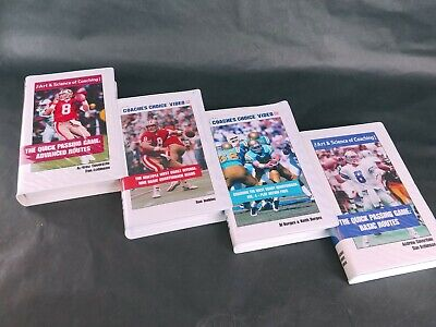 LOT 4 Coaches Choice Video football VHS VCR Tapes VTG media QB reads pass action