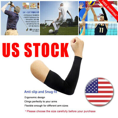 US Unisex 5 Pairs Cooling Arm Sleeves Cover UV Sun Protection Outdoors Sports