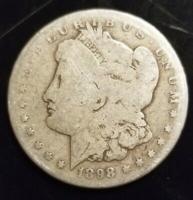 Early 1898-S Morgan Silver Dollar - 90% US Coin