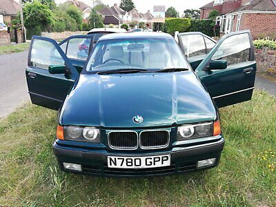 BMW 328i Auto 1996 Metallic Green with Grey Leather Upholstery