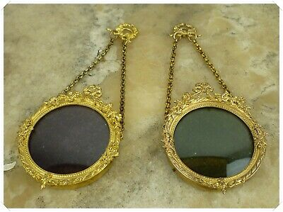 Pair Of Gorgeous Antique French Louis Xvi Photo Frame Bronze & Brass
