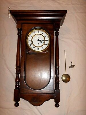 "chHM1  vintage 1981 Howard Miller 612-432  PENDULUM WALL CLOCK 3 CHIMES 29"" tall"