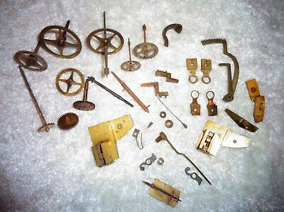 Open Escapement Clock Movement Gears & Parts ( Ansonia or French ? )