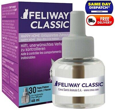 FELIWAY Classic Diffuser 30 Day Refill 48ml For Pheromone Diffuser In Home