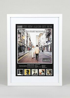 Oasis+(What's The Story) Morning Glory+Album+Poster+Ad+Original Rare1995+Framed