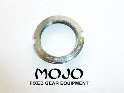 MOJO Fixed Gear Lockring CNC ANODIZED Cro-Mo TRACK LOCK RING BLOCK CHROME