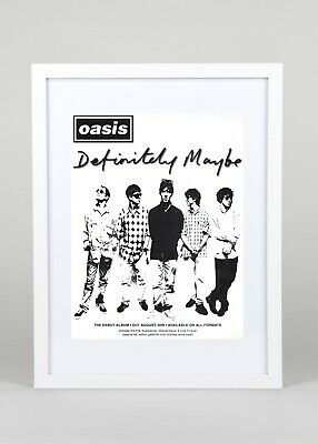 Oasis's+Definitely Maybe+Album+Poster+Ad+Rare Original 1994+Framed