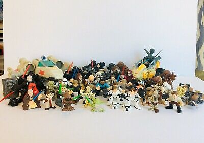 Hasbro Star Wars Galactic Heroes Lot Of 44 Action Figures X-Wing Fighter Racer