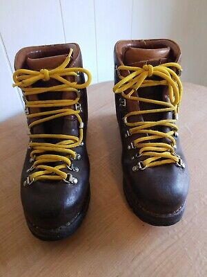 c460e767669 VTG MENS CLASSIC Asolo Brown Leather Yukon Mountaineering Boots 11 ...