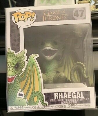 """Funko Pop Deluxe HBO Game of Thrones #47 RHAEGAL 6"""" New Dragon MIB w/ PROTECTOR!"""