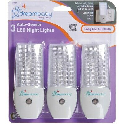 Dreambaby Auto-Sensor LED Night Light 3 Pack