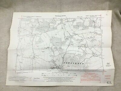 1950 Vintage Map Of West Sussex Newtimber Poynings