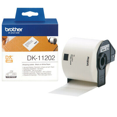 Brother DK11202 Shipping Labels - Black on white - 300 pc(s) - DK - White