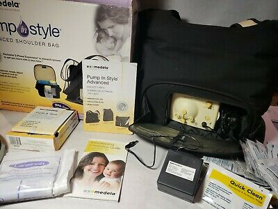 Medela_Pump In Style Advanced Breast Shoulder Bag Motor And Adapter EUC Clean