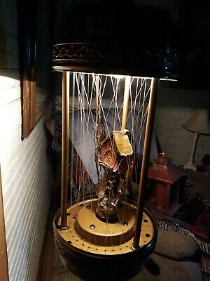 Vintage GRIST MILL Hanging Swag Rain Oil Lamp chandelier
