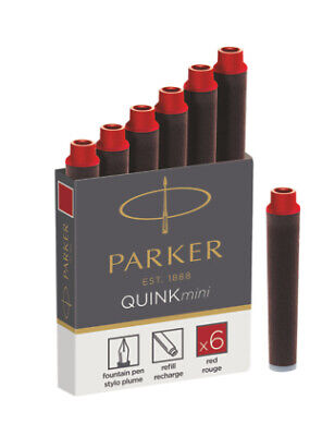 PARKER 1950408 - Red - Black - 6 pc(s) QUINK MINI CARTRIDGE - RED