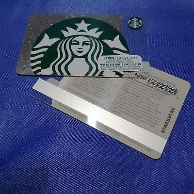 1x STARBUCKS Canada Blank Gift Cards 2017 Collection Loadable NEW