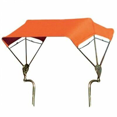 """SNOWCO 3-Bow Tractor Canopy with Frame Axle Mount 48"""" - Orange"""