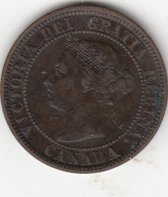 1884 Obv 2 Victoria Large Cent F-VF