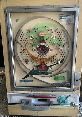Vintage Maruhon single short early Pachinko Machine- It Works!