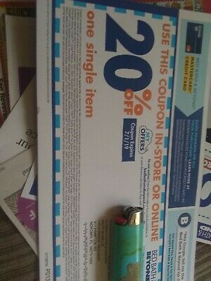 Bed Bath and Beyond 20% Off One Single Item Exp 7/22/19 free shipping