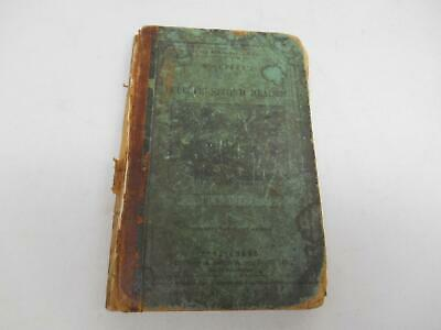 1848 SCHOOL BOOK McGUFFEY'S ECLECTIC SECOND READER LESSONS READING SPELLING Old