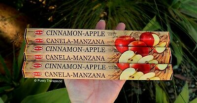 CINNAMON APPLE INCENSE~Hem Hexagonal Pack of 20 Sticks Wicca Smudge Pagan