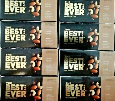 96 Best Ever Real Food Bars 8 Boxes Protein Nutrition Energy Bar 5/2019 Free S/H
