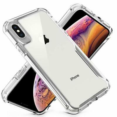 For iphone XS MAX XR XS X Clear Rubber Frame Acrylic PC Hard Plastic Cover Case