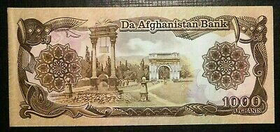 1939 AFGHANISTAN     Paghman Gardens and Triumphal Arch 1000 Afghanis (97B)