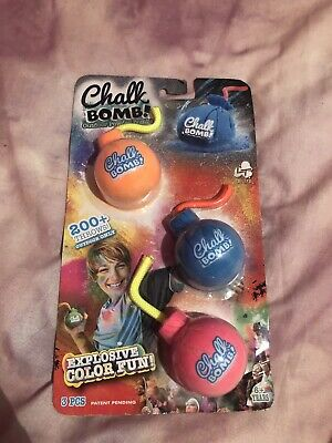 200+ Throws CHALK BOMBS Lanard EXPLOSIVE colour Bag Powder Bomb Assorted 3