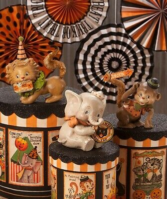 Bethany Lowe Halloween Big Top Animals Lion Monkey Elephant Circus Set of 3