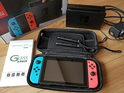 Nintendo Switch Neon Red/Neon Blue Joy-Controller Bundle Grey 32 GB Console