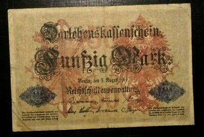 50 Mark Loan Certificate of the German Empire 1914 GERMANY (46E)
