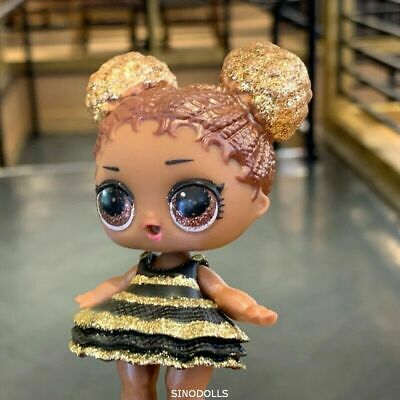 rare QUEEN BEE with glitter dress LOL Surprise Doll Glam Glitter series toy gift
