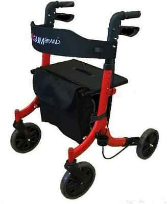 Side Folding X-Frame Outdoor Walker (Red)