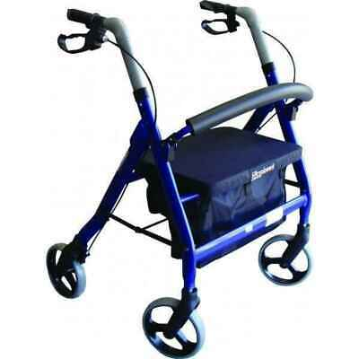 Rollator Extra-Wide Heavy Duty 200kg Weight Capacity