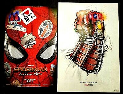 Iron Man and Spider Man  Movie Theater Posters ( 2019 ) Lot of 2