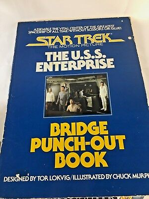 Star Trek The Motion Picture Bridge Punch-Out Book Paramount 1979 First Edition