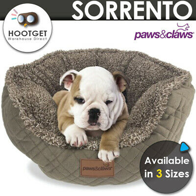 [3 Sizes] Sorrento Pet Cat Puppy Dog Walled Bed Waterproof Base Plush Soft Warm