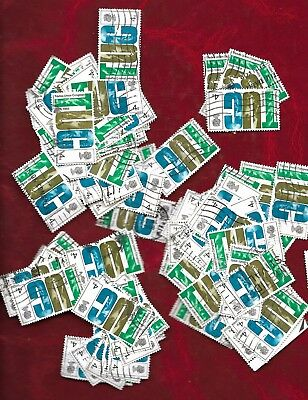 130 GB T.U.C 4d stamps off paper, suit new collector or art or craft project
