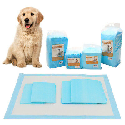 Dog Puppy Extra Large Training Pads Wee Wee Floor Toilet Mats 60x45cm 90x60cm UK