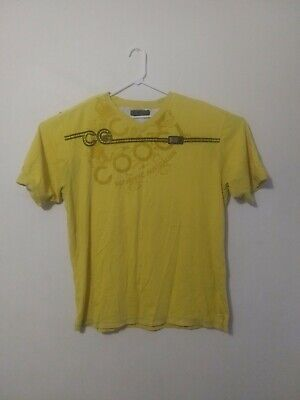 Coogi Authentic Australian Mens 2XL, Yellow with Metal Patch