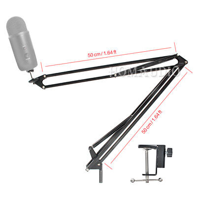 Suspension Boom Scissor Mic Arm Mount Holder For Blue Yeti Pro Microphone Stand
