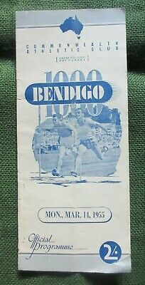 1955 Bendigo Thousand Footrace Commonwealth Athletic Club Official Programme.