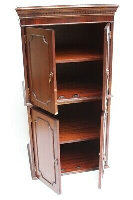 Antique Style Mahogany 2 Piece Cupboard Cabinet - FREE Delivery [5386]
