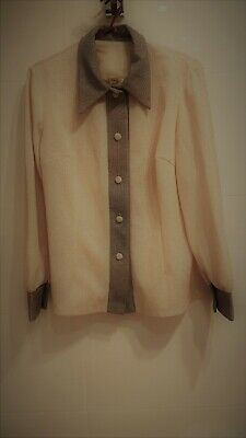 Fab Vintage Retro gold and silver lurex blouse, shirt  fit sizes 12, 14