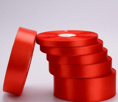 20mm Width Satin Red Ribbon single side Christmas Wrap Clip Card Making Gift